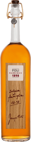 The Poli Barrique Solera di famiglia from Jacopo Poli is a powerful, warm grappa distilled from the marc of typical Veneto grape varieties. In the glass this grape marc spirit shimmers in a shining amber with dark golden highlights. The spicy bouquet is characterized by the long barrel maturation - aromas of toasted wood, subtle bourbon vanilla, fine cocoa and roasted coffee unfold. With a powerful body and warm fullness, this harmonious grappa is a masterly palate delight. The finish is wonderfully long. Distillation Jacopo Poli Barrique Solera di famiglia The still fresh pomace is traditionally distilled in old copper boilers. After distillation, this young grappa is aged in French Allier oak barriques for 13 years. The alcohol content after distillation is 75% by volume. Due to the long ripening period, this is naturally reduced to approx. 55 vol%. Serving suggestion for Poli Barrique Solera di famiglia Jacopo Poli Grappa At a temperature of 18 to 20 degrees Celsius, this Italian grape marc spirit reveals its full variety of aromas. Serve this Grappa best simply solo or with a cosy cigar.