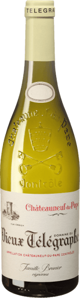 The Vieux Télégraphe Blanc belongs to the finest white Châteauneuf-du-Pape. In the fragrant bouquet of the Vieux Télégraphe Blanc by Vignobles Brunier you can smell elegant aromas of apples, stone fruit, white summer flowers and a hint of exoticism. It is at the same time powerful and mineral with a great length in the finish. A nice accompaniment to scallops or crabs in lemongrassud, fish fillets in beurre blanc or ragout of tender, white meat.
