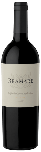 """The dense garnet colour of the Bramare Luján de Cuyo Malbec of the Bodega Viña Cobos accompanies an earthy nose, rich in aromas of cassis, mocha and lavender. The palate is rich and complex. Black currants, ripe tannins and minerality find a perfect balance.An example of the size of the Argentine Malbec is the Bramare Luján de Cuyo Malbec. Once again voted into the TOP 100 Wine List by James Suckling, the world's highly esteemed American wine journalist, in 2015, it is clearly one of the most popular varieties of """"premium wine for a comparatively small price"""". Vinification for the Bramare Luján de Cuyo Malbec After hand-picking, the Bramare Luján de Cuyo matured for 17 months in a combination of new (15% French oak + 20% American oak) and used oak barrels (65%; 2nd layer). No fining and filtration took place. Food recommendation for the Bramare Luján de Cuyo Malbec of the Bodega Viña Cobos We recommend this Malbec for meat dishes and cheese."""
