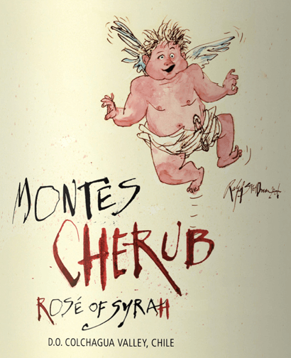 The Cherub Rosé from Montes is named after the biblical angels with particularly important tasks. In the glass, this rosé presents itself in an intensely bright raspberry pink. The bouquet exudes strong aromas of roses, juicy ripe strawberries and orange peel. This Chilean rosé wine inspires the palate right from the start. Carefully integrated tannins provide a grippy taste, the dense, concentrated and refreshing fruit guarantees the best drinking flow and the clearly structured body of the Cherub Rosé contributes to an elegant finish. Vinification of Montes Cherub Rosé The pure variety Cherub Rosé of Syrah from Montes was vinified exclusively from Syrah grapes of the Archangel Estate in Marchiqüe in the middle of the Colchagua Valley. In order for this wine to retain its lively freshness and complex fruit, this rosé is aged exclusively in stainless steel tanks. Food recommendation for the Rosé Syrah Cherub Montes This dry rosé wine from Chile goes wonderfully with starters and refined salads, for example with roasted beef strips or shrimps, with grilled fish and seafood, with spicy rice dishes such as paella or with many dishes of Arabic cuisine. But solo is also a treat.