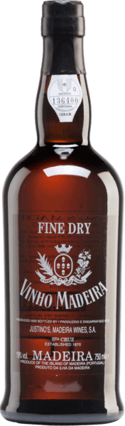 The Fine Dry from Vinhos Justino Henriques is the youngest Madeira wine produced by Justino's Madeira. This wine is made from the grape varieties Complexa and Negra Mole. In the glass it presents the typical light amber colour with yellowish-brown reflections. The nose enjoys intense aromas of dried fruit - especially apricot. On the palate, this 3-year-old Madeira convinces with its lightness and freshness, which are encased by a soft character. Vinification of Justino Henriques Fine Dry Vinhos The grapes for this Madeira come from vines aged 20-25 years. The grapes are harvested by hand and selected in the cellar. After pressing the grapes, the must is fermented in stainless steel tanks at a controlled temperature. This wine then matures for at least 3 years in wooden barrels. This Madeira is a marriage of different wines, which are matured every at least 3 years in oak barrels, before they are bottled. Food recommendation for Fine Dry Madeira Justino Henriques This Madeira is the perfect aperitif to kick off a cosy evening or a wonderful celebration.
