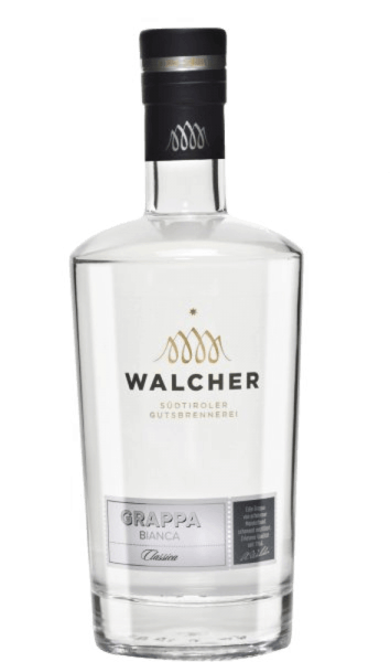 The Grappa Bianca Classica by Walcher is a classic and mild grappa from South Tyrol. The Walcher distillery is located near Bolzano, where a mild and Mediterranean climate prevails. Summers are hot and winters mild, which means optimal conditions for fruit trees to produce fully ripe fruits. Production of the Grappa Bianca Classica This grappa is expertly distilled in the traditional grape separation bubbles and thus becomes a mild marc fire. Serving recommendation for the Grappa Bianca Classica Enjoy this grappa pure, for example as a digestif at a temperature of 8 ° Celsius.