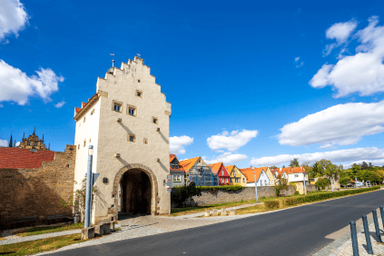 The historic town gate in Sulzfeld am Main