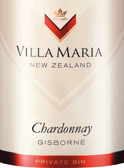 The Private Bin Chardonnay from Villa Maria is a pure grape variety, smooth white wine from the New Zealand wine-growing region Gisborne on the North Island. In the glass this wine shines in a shining golden yellow with shimmering green highlights. The fresh bouquet reveals fruity aromas of ripe pears, juicy peaches and fresh, subtle notes of citrus blossoms. On the palate this New Zealand white wine convinces with a powerful structure, full-bodied body and a wonderfully smooth texture. The aromatic fruit refreshes and is supported by very well integrated oak wood notes. The middle finish is fresh and floral with fruity notes. Vinification of Villa Maria Chardonnay Private Bin The fully ripe Chardonnay grapes are harvested on the North Island in Gisborne and immediately brought to the wine cellar of Villa Maria. There the berries are gently ground and pressed and clarified with a cold sedimentation. The must then ferments in stainless steel tanks at cool temperatures. Then part of this white wine undergoes biological acid decomposition. The remaining part is aged on the fine yeast with stirring of the yeast storage (bâtonnage). Food recommendation for the Chardonnay Private Bin Villa Maria Enjoy this dry white wine from New Zealand with all kinds of appetizers - warm or cold - fresh seafood with avocado dip, fresh fish from the grill or crunchy salads with turkey breast.