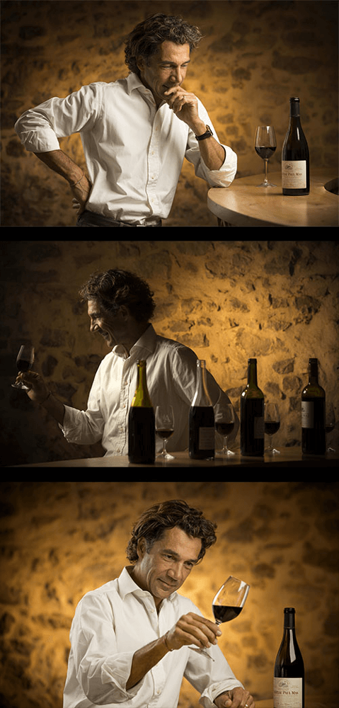 The oenologist Jean Claude Mas
