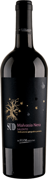 THE SUD Malvasia Nera from the Cantine San Marzano is a varietal, soft and full-bodied red wine from the Italian wine region of Puglia. In a ruby red colour with black-violet reflections, this wine shimmers in the glass. Its fruity-spicy bouquet unfolds on the nose, with black cherry, clove, cinnamon and elderberry dominating. This Italian red wine brings a strong fruity aroma ensemble to the palate. Wonderfully integrated wood notes combine with the spice of star anise, cinnamon, clove and the fruit of red berry jam. The SUD Malvasia Nera comes round and soft and concludes with a sustainable finale. Vinification of the Cantine San Marzano South Malvasia Nera The must of Malvasia Nera grapes is placed on the mash for 10 days after harvesting and pressing. It is then filled into French oak barriques for maturation. This red wine is aged for 4 months and retains its spicy character. Food recommendation for the Malvasia San Marzano SUD Enjoy this red wine from Italy with spicy, oriental and Indian dishes, such as lamb curry or masala, braised meat but also with boiled fruits and almond pastries.