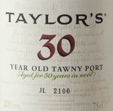 The Tawny 30 Years Old from Taylor's Port is an impressive, excellent Prot wine from the Portuguese wine-growing region DOC Douro. This wine is made from the grape varieties Tinta Cao, Tinta Roriz, Tinta Barocca, Touriga Francesa, Touriga Nacional and Tinta Amarela. In the glass this wine shimmers in a bright amber with mahogany shades. The nose is sweet and fruity, with dried yellow fruit, caramelised orange peels, freshly ground coffee and subtle toasted notes. On the palate this port wine convinces with an impressive power and juicy body. The fine sweetness harmonises wonderfully with the aromas of the nose and is complemented by orange jam and creamy caramel. The sweet finish is wonderfully round and long. Vinification of Taylor's Port Tawny 30 Years old Matured Tawny with age indication requires first of all the art of blending and wise foresight on the evolution of the wine during its long maturing period in the barrel. Each Tawny is composed from the beginning for its specific age: 10, 20, 30 or 40 years and must always have its characteristic style and taste. Even if this port is always composed from different wines and vintages. The grapes for this wine are harvested exclusively by hand and brought to the Taylor's Port cellar, where they are destemmed and fermented in open stainless steel tanks. As soon as half of the sugar is fermented, the fermentation process is stopped by adding high-proof distillate. This preserves the natural residual sweetness of this wine. Finally, this port wine matures for 30 years in wooden barrels until it is bottled. Food recommendation for the 30 Years Old Taylor's Tawny Pass this port to nutty desserts and fine cakes with dark chocolate. Or enjoy this wine with spicy hard cheese (like Parmesan and Manchego). Awards for the Tawny 30 Years old Taylor's Port Wine Spectator: 92 points Robert M. Parker - The Wine Advocate: 92 points
