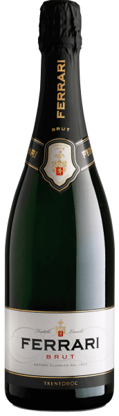 Since 1902, this sparkling wine has been vinified in the Trentino region and symbolizes the history of the Ferrari winery.The Ferrari brood by Ferrari is presented in a straw yellow color with greenish shades in the glass. The bouquet of this spumante is intense and exudes aromas of yeast, field flowers and Golden Delicious apples. In terms of taste, it impresses with harmony, suppleness, clarity and notes of fresh bread and ripe fruits. This spumante comes in a noble gift box. Awards for Ferrari Brut Trentodoc by Ferrariwinereview online: 90 pointsWine Spectator: 90 pts. & smart buy forWine Enthusiast: 90 pts.Gambero Rosso: 2 glasses each in the gamba. Rosso 2010 - 2014Bibenda: 4 grapes