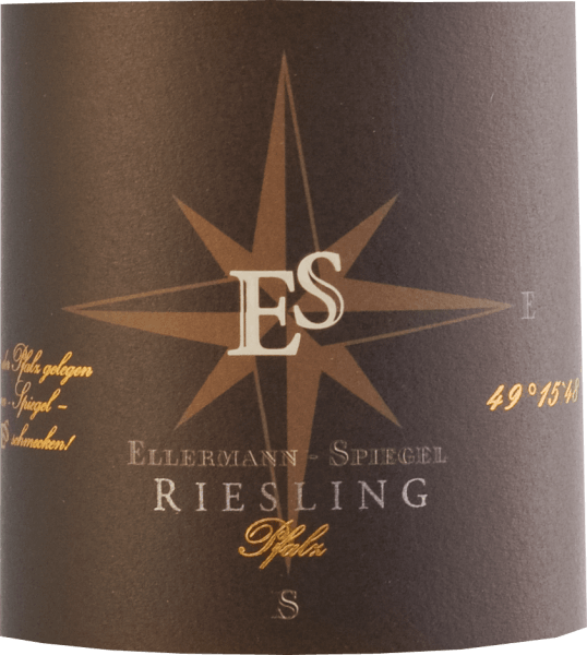 """The Riesling estate wine dry from Ellermann-Spiegel from the Palatinate is a wonderful varietal Riesling. Brilliant light yellow in the glass, on the nose fine aromas of peach, apples, nuances of cassis, mineral accents and floral notes. It dances almost on the tongue, with extraordinarily juicy fruit on the palate, mineral, delicate spicy notes, carried by fine and at the same time refreshing acidity. Long, mineral-fruity reverberation.A classic for fans of German Rieslingen. Food recommendations and tasting tip For """"a mouth full of Riesling"""", this Palatinate Riesling estate wine dry from Ellermann-Spiegel is the first choice. It can be enjoyed solo, as an aperitif, but ideally goes well with asparagus, fish and Asian dishes. Vinification The Riesling estate wine dry from Ellermann-Spiegel is aged in a stainless steel tank and remains on the fine yeast for some time, so that the elegant aromas of this classic Palatinate Riesling can unfold beautifully, for tasty, aromatically elegant drinking pleasure."""