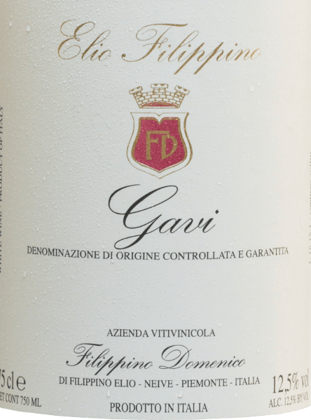 TheGavi by Elio Filippino is a grape varietal white wine that shines with a bright straw yellow color with green highlights in the glass. The bouquet reveals wonderful aromas of fresh limes and ripe mirabelles. On the palate, this Italian white wine is wonderfully fruity with a crisply elegant texture - the notes of the nose are also reflected on the palate. A white wine with a fresh and fruity finish. Food recommendation for the Elio Filippino Gavi This dry white wine from Italy goes well with light appetizers, fish dishes - especially tuna with parsley potatoes.