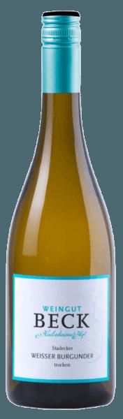 Der Stadecker Weißer Burgunder von Beck strahlt im Glas in einem hellen Strohgelb und entfaltet wunderbar nussige Aromen, welche von Birnen und Melone untermalt werden. Dieser harmonische Weißwein begeistert mit seinem zarten cremigen Schmelz am Gaumen. Speiseempfehlung für den Beck Stadecker Weißer Burgunder Genießen Sie diesen trockenen Weißwein zu Gemüse und hellem Fleisch, Meeresfrüchten oder einem Curry-Seelachs-Auflauf.