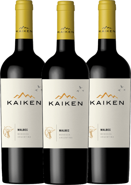 Kaiken Malbec is an aromatic red wine from Argentina, whose youthful elegance is based on an exceptional balance between fruit, velvety tannins and a crisp fruit acid structure. Our Argentinean bestseller is now available in a special 3-pack.  You can find out more about this dry wine in the article of Kaiken Malbec.
