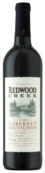 The Cabernet Sauvignon Redwood Creek by Frei Brothers presents itself in the glass in a dark ruby red and seduces with the aromas of raspberries and blackberries, which are accompanied by delicate vanilla.  This round and body-hugging red wine from California is soft on the palate. The notes of cocoa and blackberry jam transform into a long finish. Food recommendation for the Cabernet Sauvignon Redwood Creek by Frei Brothers Enjoy this dry red wine with steaks and spare ribs or with a dark mousse au chocolat.