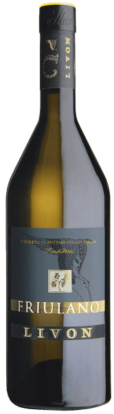 The Manditocai Friulano Collio DOC from Livon appears in a straw yellow glass with golden reflections. The intense bouquet on the nose releases the scent of peach leaves, nutmeg and spicy aromas. On the palate, this noble white cru from Friuli presents itself fine, pleasantly soft, full-bodied, of lively, varietal freshness, supported by a beautiful acidity and minerality, which gives the wine a good structure. In the long aftertaste all the aromas of Collio unfold with lightness, mineral and salty notes and the typical bitter almond aroma. Vinification of Manditocai Friulano Collio DOC from Livon The Manditocai vineyard of the same name in the village of Ruttars in the municipality of Dolegna del Collio gives its name to this multiple award-winning Cru. The grape variety Tocai Friulano thrives here on clay marl and loamy soils. The grape harvest is carried out selectively and exclusively by hand, the grapes are collected in boxes, brought to the cellar and pressed there as a whole grape, without turning, only by slowly and gradually increasing the pressure. The resulting must is collected in a stainless steel tank, cold decanted over 24 hours and then divided, 50% is transferred to stainless steel tanks for the alcoholic fermentation, 50% to Hungarian oak barriques. The Hungarian oak barriques are characterized by a very fine wood and a very delicate roasting, optimal conditions for the final product. After 8 months of ageing, the wine is bottled. The Manditocai Friulano has a shelf life of 10 to 15 years. Food pairings for Manditocai Friulano DOC from Livon An excellent accompaniment, the Cru Manditocai, to the typical Italian and Friulian starters, soups, pasta and risotto, to salted and well-structured fish, white meat with tender and light sauces. Enjoy this Friulian white wine as a perfect accompaniment to raw San Daniele ham and soft cheeses. Awards for the Manditocai Friulano DOC from Livon The WineHunter Award: Gold for 2016 Gambero Rosso: 3 glasses for 201