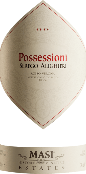 The Possessioni Rosso del Veronese from the Veneto wine-growing region, aged in barrels, is presented in a glass in bright ruby red. The nose shows this Serego Alighieri red wine all kinds of blackcurrants, plums, plums, plums, black cherries and shadow morals. As if this were not already impressive, further aromas such as bitter chocolate, cocoa bean and cinnamon are added due to the expansion in the large wooden barrel. The Serego Alighieri Possessioni Rosso del Veronese impresses with its elegantly dry taste. It was put on the bottle with only 1.8 grams of residual sugar. As you can of course expect with a wine in the upscale price entry, this Italian naturally enchants with the finest balance in all dryness. Excellent taste does not necessarily require a lot of residual sugar. Balanced and complex, this dense red wine is on the palate. The Possessioni Rosso del Veronese is impressively fresh and lively on the palate thanks to its present fruit acid. The finale of this red wine from the Veneto wine-growing region captivates with a remarkable reverberation. Vinification of Possessioni Rosso del Veronese by Serego Alighieri Starting point for the first-class and wonderfully balanced Cuvée Possessioni Rosso del Veronese from Serego Alighieri are Corvina, Molinara and Sangiovese grapes. After harvesting, the grapes quickly reach the press house. Here you will be sorted and carefully broken up. Fermentation is then carried out in large wood at controlled temperatures. After its end, the Possessioni Rosso del Veronese is aged for 12 months in Slavonian oak barrels. Food recommendation for the Possessioni Rosso del Veronese by Serego Alighieri This red wine from Italy should best be enjoyed at a temperature of 15 - 18°C. It goes perfectly with rocket pens, Boeuf Bourguignon or baked sheep's cheese packets.