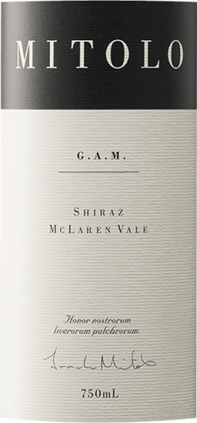 The G.A.M. Shiraz McLaren Vale from the wine-growing region of South Australia, matured in the barrel, reveals itself in the glass in a dense purple red. The first nose of G.A.M. Shiraz McLaren Vale reveals notes of blueberries, blackberries and mulberries. The fruity aspects of the bouquet are joined by notes of barrel ageing and even more fruity-balsamic nuances. The G.A.M. Shiraz McLaren Vale from Mitolo Wines is just right for all connoisseurs who like as little residual sugar in their wine as possible. However, it is never sparse or brittle, as you would expect from a wine. On the tongue, this powerful red wine is characterised by an incredibly dense texture. The G.A.M. Shiraz McLaren Vale reveals itself wonderfully fresh and lively on the palate through its succinct fruit acidity. In the finish this very storable red wine from the wine growing region South Australia finally inspires with its extraordinary length. There are again hints of mulberry and black currant. In the aftertaste mineral notes of the soils dominated by limestone and clay are added. Vinification of the G.A.M. Shiraz McLaren Vale from Mitolo Wines Basis for the powerful G.A.M. Shiraz McLaren Vale from South Australia are grapes from the Syrah grape variety. In South Australia, the vines that produce the grapes for this wine grow on soils of clay and limestone. At optimal ripeness, the grapes for G.A.M. Shiraz McLaren Vale are harvested exclusively by hand without the help of coarse and less selective grape harvesters. After harvesting, the grapes are immediately transported to the winery. Here they are selected and carefully broken down. This is followed by fermentation in small wood at controlled temperatures. The fermentation is followed by a maturation for 18 months in French oak barrels. Food recommendation for the G.A.M. Shiraz McLaren Vale from Mitolo Wines Enjoy this red wine from Australia ideally tempered at 15 - 18°C as an accompanying wine to Boeuf Bourguignon, leek tortilla or chickpea curry. Awards for the G.A.M. Shiraz McLaren Vale from Mitolo Wines In addition to a price-consciousness ratio, this red wine from Mitolo Wines can also boast awards. In detail these are Wine Enthusiast - 90 points