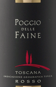 The Rosso Toscana by Poggio delle Faine appears in the glass  in a deep garnet red and reveals its concentrated bouquet. This contains the aromas of dark berries and cherries, as well as the spicy components of vanilla wood. On the palate, this cuvée of Sangiovese and Cabernet Sauvignon is present with warm and flattering fruit and fine nuances of coffee and chocolate. This red wine from Tuscany has a long reverberation, concentration and a lot of potential. Food recommendation for the Poggio delle Faine Rosso   Enjoy this dry red wine with pasta with tomato sauces, strong meat dishes of pork, beef, lamb or game or with grilled dishes. Awards for the Toscana Rosso by Poggio delle Faine Mundus Vini: Gold for 2011 Berlin Winetrophy: Gold for 2011