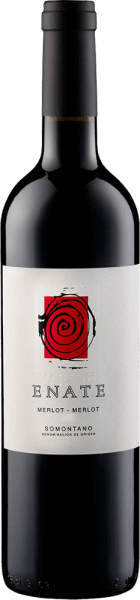 The Merlot Merlot by Enate is presented in the glass in a deep dark blackberry tone with a concentrated and multi-layered bouquet. This is characterized by the aromas of blackberries, coffee and chocolate. This Spanish red wine from Somontano is of extraordinary fullness and texture on the palate and passes into a long and impressive finale. Food recommendation for the Merlot Merlot by Enate Enjoy this dry red wine with lamb and game, strong dishes with pork and beef, grilled meat or with strong cheeses. Awards for the Merlot Merlot by Enate Guia Penin: 93 points (vintages 2012, 2010) Guia Penin: 92 points (years 2009, 2008) Sélections Mondiales des Vins: Gold (vintage 2007) The artwork depicted on the label of the Enate wine Merlot-Merlot is by the artist Frederic Amat.