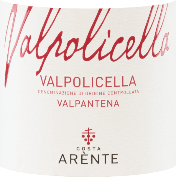 Costa Arènte's Valpantena Valpolicella is a balanced Italian red wine vinified from Corvina (50%), Corvinone (30%), Rondinella (10%) and other red grape varieties (10%).  In the glass, this wine shines in a bright ruby red. The aromatic bouquet is characterized by notes of juicy raspberries, red currants and ripe sour cherries. The aromas of the nose are accompanied by black pepper. The palate enjoys a juicy and balanced texture with a soft tanning structure. The lively acidity is very well integrated into the body and accompanies in the present, medium-long finale.  Vinification of the Costa Arènte Valpantena Valpolicella The grapes for this Italian red wine come from the Veneto region - D.O.C. Valpolicella Valpantena. The harvesting is done exclusively by hand.  After reaching  the Costa Arènte winery, the grapes are gently pressed and then fermented at a controlled temperature in large wooden barrels. After completion of the fermentation process, this red wine rests for 3 months in large wooden barrels.  Food recommendation for  the Valpantena Valpolicella Costa Arènte Enjoy this dry red wine from Italy for cozy barbecues with white grilled meat. But this wine is also a treat for starters with cream cheese.