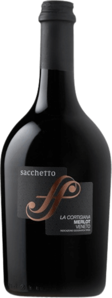 Sacchetto's La Cortigiana Merlot Veneto IGT shimmers in the glass of ruby red with a tendency towards a gorgeous burgundy. The bouquet of this cuvée unfolds with the delicious aromas of cherries and blackcurrants, which are rounded off by fine spice notes. This juicy and full-bodied red wine is wonderfully soft and rounded on the palate. Vinification of the Sacchetto La Cortigiana This cuvée is vinified 85% from Merlot and 15% from Cabernet Sauvignon. The must is macerated under temperature control for 8-10 days. After fermentation, one part of this red wine is aged for 6-8 months in barriques, the other for 10-12 months in Slavonic oak barrels. For the finishing touches, La Cortigiana is refined in stainless steel tanks and then bottled. Food recommendation for the Sacchetto La Cortigiana Enjoy this dry red wine with roast pork or grilled, white and red meat.