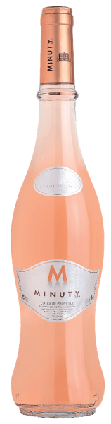 The Château Minuty Cuvée M Rosé shimmers in an extremely bright, shiny salmon pink. A delicate, fragrant bouquet of sweetly ripened red berries (strawberries, red currants), peaches, candied oranges and slightly herbaceous notes emerges from the glass. On the palate it is fruity and fresh, elegant and round with a great balance of lively acidity, fine berry fruit and a delicate herbal and spicy aroma.Enjoy it as an aperitif or with Caesar or Nice salad, air-dried ham, cold and hot starters, fresh seafood, fish and poultry dishes or with sheep`s cheese such as pérail.This blend of 50% Grenache, 40% Cinsault and 10% Syrah is fermented in stainless steel tanks and the wines of the M series are produced in the genuine Minuty style. They combine the fresh, straight, natural fruit with an intense taste. The wines are a real moment of joy and happiness, which you share with friends and evoke the holiday feeling.