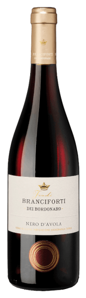 The ruby red Branciforti dei Bordonaro Nero d' Avola Terre Siciliane IGT from Branciforti reminiscents of dark and red fruits lika cherries, plums and berries. He offers a warm, soft and round taste.