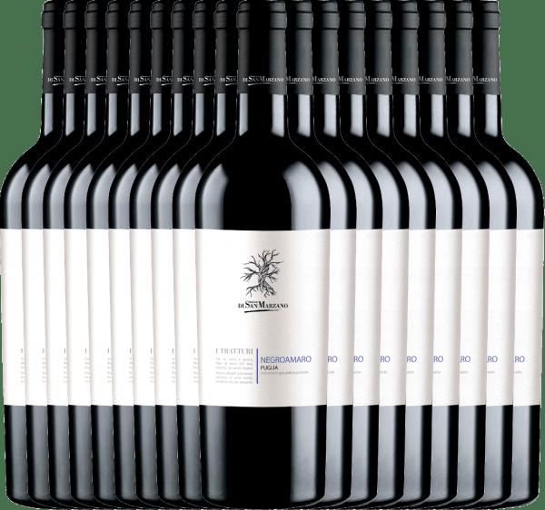 18er Vorteils-Weinpaket - I Tratturi Negroamaro 2019- Cantine San Marzano