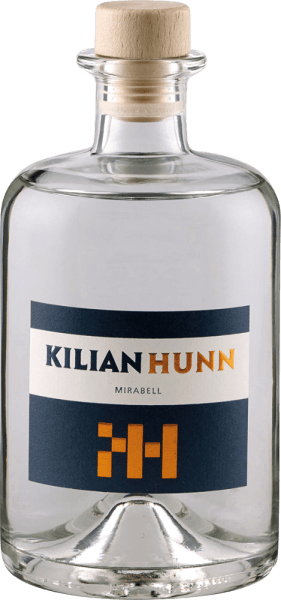 The Mirabell fruit brandy by Kilian Hunn is presented in glass with the lush aromas of ripe mirabelles, which are accompanied by floral sounds. On the palate the notes of the nose are reflected, in the finish a mild fruit with a floral touch can be seen. A bottle of Hunn Mirabell contains up to 3 kilograms of golden yellow mirabelles. The gentle and slow cooling fermentation and the subsequent rest period after fermentation gives this noble brand its special taste structure. Serving recommendation for the Kilian Hunn Mirabell fruit brandy Enjoy this Mirabellen brandy as a digestive or with desserts with Mirabellen.