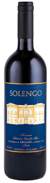 The Solengo IGT from Argiano reveals itself in a rich color of dark intensity. The fragrance is reminiscent of powerful notes of berries, dark chocolate and truffles. The luscious taste flows into a very long and concentrated finish with dark fruit and rich, velvety tannins. We recommend it with piquant vegetable dishes with peppers and spicy stews of beef.