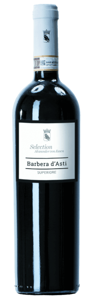 The Santa Katharina Barbera d 'Asti Superiore by Tenuta Colline is presented in a shimmering ruby red in the glass. The seductive bouquet shows pleasant aromas of ripe red fruits with clear shades of vanilla, dark chocolate and spices. The red wine flatters the palate with its elegant, full and very balanced structure. The acid is perfectly balanced. The finish is unforgettably soft and long. Serving suggestion/Food pairing The Barberad 'Asti Superiore from Tenuta Colline goes very well with Italian cuisine - pasta in spicy sauces, saltimbocca or also withbraised rabbit ragout with polenta.