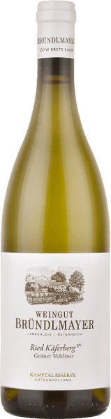 The Grüner Veltliner Käferberg from Bründlmayer is a full-bodied, grape varietal white wine from the Austrian wine region Kamptal of the Riede Käferberg. In the glass this wine shines in a bright straw yellow with greenish highlights. The clear bouquet reveals a wonderfully multi-layered aroma - ripe apricots and peaches appear at the beginning, complemented by juicy melon. Gradually, fine roasted aromas, creamy honey and the typical hint of peppery spice are added. With good tension, full-bodied and opulent body this Austrian white wine skillfully captures the palate. Fine exotic notes (especially pineapple and grapefruit) go hand in hand with the subtle acidity. The texture is wonderfully enveloped by plenty of fullness and extract. The outstandingly long finish perfectly rounds off this white wine with the spicy pepper of Grüner Veltliner. Vinification of the Bründlmayer Käferberg Grüner Veltliner The Grüner Veltliner grapes in the Austrian Langenloiser Käferberg vineyard are carefully harvested by hand in small boxes. The grapes are immediately brought to the Bründlmayer winery and filled directly into the press. The resulting must is fermented in Austrian oak barrels (volume 300 litres). Finally, this wine rounds off harmoniously in used 2500 litre barrels. Food recommendation for the Käferberg Grüner Veltliner Bründlmayer Enjoy this dry white wine from Austria with Indian curry, wok dishes with fresh lemon grass and piquant spices or classic dishes such as Wiener Schnitzel and roast pork. Awards for the Grüner Veltliner Käferberg Bründlmaye Falstaff: 94 points for 2016