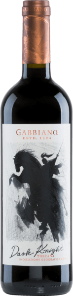 The Dark Knight by Castello di Gabbiano is a modern Italian red wine cuvée made from Cabernet Sauvignon (50%), Merlot (30%) and Sangiovese (20%) grape varieties. In the glass, this wine shimmers in an expressive ruby red with purple highlights. Intense aromas of red berries unfold in the nose - especially raspberry, blackberry and some strawberry - paired with sweet, spicy hints of coffee, chocolate and vanilla. On the palate, this red wine convinces with a wonderful drinking flow. The soft tannins are perfectly balanced and cling to the strong body. The finale comes with a wonderful length. Vinification of the Gabbiano Dark Knight After harvesting the grapes, they are immediately brought to the wine cellar of Castello di Gabbiano. Part of the harvested material is cold macerated in the stainless steel tank before the temperature-controlled mash fermentation. The wonderful colour and soft tannins are provided by the 6-month ageing in large oak barrels. Food recommendation for the Dark Knight by Gabbiano Enjoy this dry red wine from Italy best with game dishes in dark sauce with swirled potatoes, or with ripe cheeses. Awards for the Castello di Gabbiano Dark Knight Mundus Vini: Silver for 2016 James Suckling: 92 points for 2016 Robert Whitley: 90 points for 2015