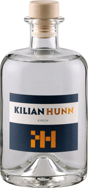 The cherry fruit brandy by Kilian Hunn is presented in glass with the lush aromas of juicy cherries, which are accompanied by floral hints. On the palate the notes of the nose are reflected, in the finish a mild fruit with a floral touch can be seen. A bottle of their cherry contains up to 700 aromatic, sun-ripened cherries. The gentle and slow cooling fermentation and the subsequent rest period after fermentation gives this noble brand its special taste structure. Serving recommendation for the Kilian Hunn cherry fruit brandy Enjoy this cherry brandy as a digestif, with coffee with Black Forest cherry cake or with lamb loin or venison fillet.