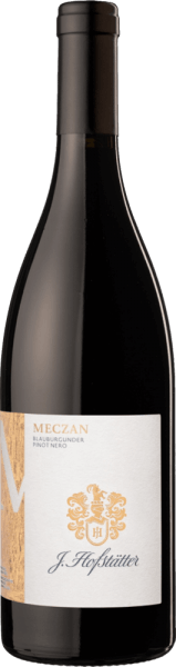J. Hofstätter's Meczan Pinot Nero Blauburgunder Alto Adige DOC has a vivid ruby red colour with light garnet tones in the glass and a distinctly fresh, fruity bouquet with seductive notes reminiscent of wild berries, blackcurrant and cherry on the nose. On the palate this very typical Pinot Noir from South Tyrol presents itself wonderfully harmonious, round and very juicy, with soft, beautifully integrated, velvety tannins and intensive fruit notes. The long finish is particularly pleasing with elegance and fruitiness and a hint of dark chocolate in the background. Vinification of the Meczan Pinot Nero Alto Adige Tyrol by J.Hofstätter The grapes for this South Tyrolean red wine grow in soils consisting of a conglomerate of clay, lime and porphyry, typical of the Dolomite region. After harvesting, 75 % of the grapes are destemmed, 25 % are taken as whole grapes with stems to the fermentation tank, where they remain for about 10 days. During this time, the must is kept in constant contact with the grape skins. The wine then matures in egg-shaped concrete tanks. Food recommendation for the Meczan Pinot Nero Alto Adige by J.Hofstätter Enjoy this excellent and very typical Northern Italian Pinot Nero with traditional South Tyrolean cuisine, with hearty barley soup, but also with fine poultry, pasta dishes with meat ragout and roasts. Awards for the Meczan Pinot Nero Alto Adige by J.Hofstätter Wine Spectatori: 90 points for 2013 and 2010