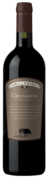 The Ceccante Toscana IGTbyAzienda Il Grillesino shimmersin a dense, rich ruby red.The strong, multi-layered bouquet is reminiscent of fully ripe dark berries (cassis) and juicy cherries that reflect the full, complex character of this red wine. Aromas of dried plums and warm, beautifully integrated spice notes of liquorice and vanilla are accompanied. On the finely structured and at the same time full-bodied palate, it reveals tangible tannin and a full taste of ripe fruit aromas and a lot of spice, which leads to a long, powerful finish.  Serve with strong meat dishes with dark sauces or chocolate desserts.This varietal Cabernet matured for 18 months in a barrique and then for another year in a bottle.