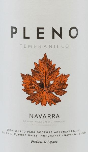 Pleno Tempranillo Navarra DO 2018 - Bodegas Agronavarra von Bodegas Agronavarra