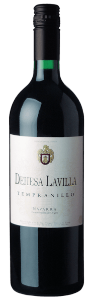 The Dehesa Lavilla Navarra DO by Bodegas Alconde in Lerín, Navarre, Spain, is an easily accessible red wine made from 100% Tempranillo grapes, with lively, powerful color. On the nose it shows rich red berry fruit, on the palate tastefully fruity with spicy hints of undergrowth in the background, harmonious, with juicy, soft tannins. An easy going Spanish red wine for banquets, as house wine and for every day.