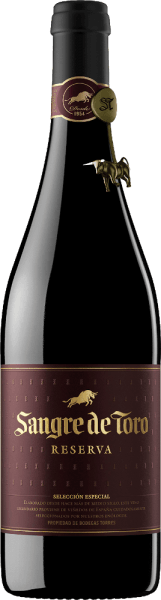 A Reserva of unmistakable personality - the Sangre de Toro from Miguel Torres. This wonderful red wine cuvée is made from the Garnacha Tinta (60%), Carinena (25%) and Syrah (15%) grape varieties. In the glass this Spanish red wine delights with a deep, dark shining purple red with garnet highlights. The bouquet reveals strong aromas of juicy, dark forest berries and ripe black cherries with hints of toasted and spicy notes - especially vanilla, clove and freshly ground black pepper. On the palate this Spanish red wine is wonderfully powerful, juicy and warm. The fruit is perfectly balanced with the silky tannins. The elegant finish convinces with a wonderful length and fruity spicy aromas. Vinification of the Sangre de Toro from Miguel Torres The harvested grapes are macerated for two weeks. The must is then fermented in stainless steel tanks at 30 °C for 7-15 days at a controlled temperature. This red wine matures for about one year in wooden barrels made of 80% European oak and 20% new wood. This wine is bottled in April and is only released to the market after a short rest period. Food recommendation for the Miguel Torres Reserva Sangre de Toro This dry red wine from Spain is delicious with game or rabbit ragouts, Mediterranean rice and vegetable pans or with spicy hard cheese. Awards for the Sangre de Toro Reserva International Wine Challenge: Bronze for 2014