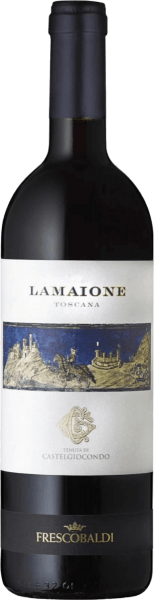 The Lamaione Toscana IGT by Tenuta di Castelgiocondo by Frescobaldi once again brings to the point the legendary achievements of the Marchesi de' Frescobaldi in Italian viticulture. A top melody from Italy - for us a synonym for great wine. In the glass, the lamaione presents itself in a rich purple and beautiful dense color. On the nose appear first fruit aromas of blackberry and blueberry, then clove, black pepper, chocolate, a slightly balsamic note of eucalyptus and thyme. On the palate, this unique Merlot from Tuscany reveals itself warm, soft and round, with dense and silky structure and present tannins. In taste, the aromas condense to a long and sustainable finish. Production of Lamaione Toscana IGT from Frescobaldi This red lace cru is vinified from Merlot grapes grown in the Lamaione vineyard of the same name from the CastelGiocondo winery. After mash fermentation and alcoholic fermentation, the wine is aged for 24 months in French oak barriques, 90% new and 10% in second batch, then the lamaione matures for another 12 months in the bottle. Food pairing for the Lamaione Toscana IGT from Frescobaldi Enjoy this Tuscan red wine with venison goulash from wild boar or rabbit, or as an ideal partner with hard, matured cheeses, dishes with pork, prepared as roasts directly in the wine or braised. Awards James Suckling - 93 points