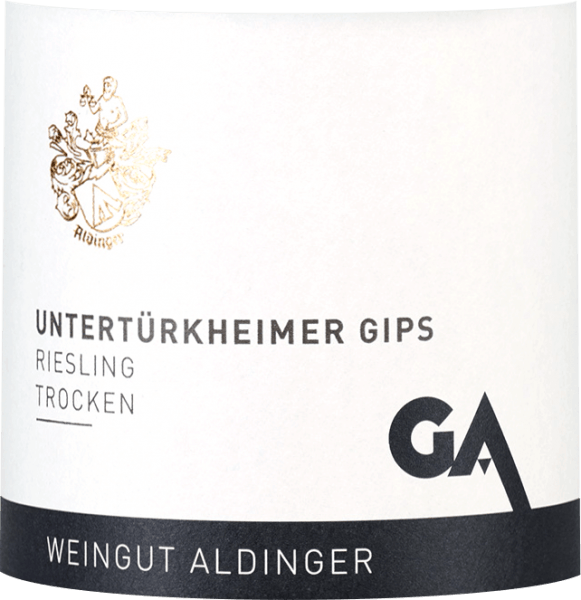 The Untertürkheim gypsum Riesling of the Aldinger winery comes from the monopoly location of gypsum in Untertürkheim, which is the sole property of the winery. In the glass comes the layered wine with light yellow color. It flatters the nose with ripe fruit notes of apple, peach and citric notes of fresh lime peel. Herbaceous nuances reminiscent of mint and lemon balm round off the bouquet of this top giant from Württemberg with a fine flint of flint. On the palate, Aldinger's Untertürkheimer gypsum Riesling first shows a classic Riesling type, which is complemented on the one hand by the aromas of the nose, on the other hand by fine minerality and a salty touch. The grippy fruit acid balances excellently with a very fine residual sweetness of just over 4 grams per liter. In the long finish again a lot of mineral grip. Vinification of the Aldinger Untertürkheimer plaster Riesling The layer Riesling from the Untertürkheimer gypsum is made up of 40% in the unit barrel, 60% in the stainless steel tank. The fermentation is spontaneous. This is followed by a yeast store until March of the following year. The grapes grow on the best gypsum-copper soil, which provides an expressive minerality. Food recommendations for the Untertürkheimer gypsum Riesling by Aldinger Enjoy this fine layered white wine from Württemberg best with strong fish or poultry dishes, Cocq au Vin or with salad with smoked trout. Awards for the Riesling Untertürkheimer Plaster Eichelmann: 88 points for 2016 Vinum: 88 points for 2016