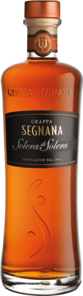 The Grappa Solera Solera of di Segnana is a cuvee of various fine wine pomace from the Trentino, which its amber color obtained after gentle distillation by storage in oak barrels. Through his fine vanilla flavor, it fits well with a good cigar or fine chocolate.