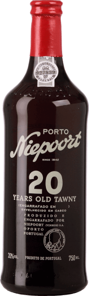 The Tawny 20 Years Old Port from Niepoort is vinified from Touriga Nacional, Touriga Franca, Tinto Cão, Tinta Francisca, Tinta Amarela, Sousão and Tinta Roriz. A wonderful reddish-brown colour with orange highlights shines in this port in the glass. The complex bouquet knows how to enchant the nose: Aromas of candied fruit and dried apricots meet walnuts and hazelnuts with notes of dried plums. The dried apricots are also very present on the palate and merge perfectly with the dense body to a round overall impression. The finish convinces with its wonderful length and nutty nuances. Food recommendation for the Tawny 20 Years Old Port Niepoort This port wine goes well with goose liver and mature cheeses. But this port is also a real dream for desserts with nuts. Awards for the 20 Years Old Tawny Port Niepoort Wine Enthusiast: 92 points Wine Spectator: 92 points