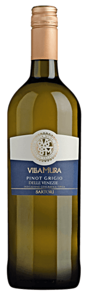 The Villa Mura Pinot Grigio Venezie by Sartori di Verona from Veneto shows a brilliant copper-gold colour in the glass. The nose of this white wine from Veneto convinces with notes of blueberry, lemongrass, pomelo and kumquat. The Villa Mura Pinot Grigio Venezie from Sartori di Verona is the right choice for all wine connoisseurs who like as little residual sugar in their wine as possible. However, it never appears meagre or brittle. On the palate, the texture of this light-footed white wine presents itself wonderfully light. With its balanced fruit acidity, the Villa Mura Pinot Grigio Venezie flatters the palate with a pleasing sensation without lacking freshness. The finale of this white wine from the Veneto wine-growing region finally inspires with a beautiful aftertaste. Vinification of the Villa Mura Pinot Grigio Venezie from Sartori di Verona The elegant Villa Mura Pinot Grigio Venezie from Italy is a pure wine, produced from the grape variety Pinot Gris. After the grape harvest the grapes reach the press house as quickly as possible. Here they are selected and carefully ground. This is followed by fermentation in stainless steel tanks at controlled temperatures. At the end of this process, the Villa Mura Pinot Grigio Venezie can continue to harmonise on the fine yeast for a few months. Recommended food with Sartori di Verona Villa Mura Pinot Grigio Venezie Drink this white wine from Italy very well chilled at 5 - 7°C as an accompanying wine to asparagus salad with quinoa, pear-lime strudel or elderflower yoghurt ice cream with lemon balm.