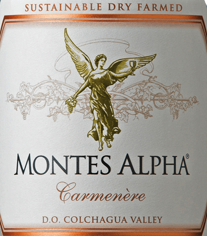 Montes Alpha Carmenère is vinified from the Carmenère (90%) and Cabernet Sauvginon (10%) grape varieties. In the glass sparkles this red wine is a beautiful ruby red. The bouquet delights with aromas of black pepper, ripe red berries and chocolate. The aromas of the nose are finely accompanied by a hint of vanilla and hints of dark plums. This Chilean red wine is soft and harmoniously balanced on the palate. Gentle tannins and wonderfully integrated oak notes lead into the seductive, wonderfully long finale. Vinification of the Carmenère Montes Alpha After the grapes have been carefully hand-picked, they are cold-mashed at 9°C for a total of 7 days. This is followed by alcoholic fermentation for 10 days. For the wonderful wood nuances and strong colour, this red wine is aged for 12 months innew and used French oak barriques. This red wine is poured unfiltered onto the bottle. Food recommendation for the Montes Alpha Carmenère We recommend this dry red wine from Chile with strong spicy game dishes with Brussels sprouts and swirled potatoes, tender lamb from the grill or with braised lamb roasts.