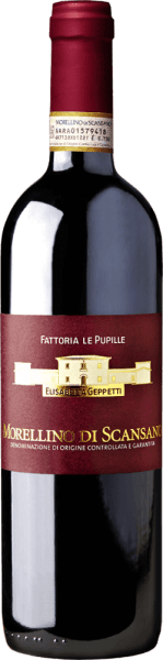 """The Morellino di Scansano DOCG by Fattoria Le Pupille shines intensely red with ruby reflections in the glass.The bouquet of this red wine from Maremma delights us with aromas of ripe sour cherries that are replaced by the scent of small-berry fruits. On the palate, this Morellino presents itself with an elegant and slim body, very fresh and sustainable, worn by silky and firm tannins. Long-lasting, smooth reverberation. Vinification of Le Pupille Morellino di Scansano DOCG The Morellino is the figurehead of Fattoria Le Pupille. The first vintage produced was in 1985, since then this terroir wine from Maremma accompanies the history of the winery. The grapes for the Morellino di Scansano,85% Sangiovese, 10% Alicante and 5% Ciliegiolo, grow in various vineyards of the estate at 50 to 250 m asl, the soils vary from clay, clay with iron content to structured sandstone soils. The grapes are harvested from September to October, depending on the degree of ripeness. After manual harvesting, the grapes macerate with the skins for 15 days, fermentation takes place at a controlled temperature in stainless steel tanks. Subsequently, the Morellino matures for 8 months mostly in stainless steel, a small proportion in second layer barriques. Food recommendation for the Morellino di Scansano DOCG by Fattoria Le Pupille This magnificent elegant red wine from southern Tuscany goes perfectly with pasta and rice with flavour-intensive sauces and main courses with meat as typical of Maremma. At a temperature of 18°, it is also perfect as an aperitif. Awards for the Morellino di Scansano by Le Pupille Duemilavini: 4/5 grapes for 2016 James Suckling: 92 points for 2016 Vinum: 15,5/20 points for 2016 Jancis Robinson: 17/20 points for 2016 I Vini di Veronelli: 88 points for 2016 Robert Parker: 88 points for 2016 Antonio Galloni: 89 points for 2016 """"Inviting bouquet, notes of red berries, leather, undergrowth; compact on the palate, the finish fresh-fruity."""" VINUM WEINMAGAZIN"""