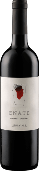 The Enate Cabernet Cabernet appears in the glass with a deep ruby red and an intense and spicy bouquet. This shows the aromas of red fruits and black berries, which are accompanied by woody and cocoa-like nuances. This red wine from Spain is dense, rich and fleshy on the palate. The ripe and creamy tannins give the Cabernet Cabernet an excellent ripening potential. Food recommendation for the Enate Cabernet Cabernet Enjoy this dry red wine with smoked dishes, stews and red meat. Awards for the Enate Cabernet Cabernet Guia Penin: 92 points (years 2011, 2010) Mundus Vini: Gold (vintage 2010) Concours Mondial de Bruxelles: Gold (vintage 2010) The artwork depicted on the label of Enate wine Cabernet-Cabernet is by the artist Erwin Bechtold.