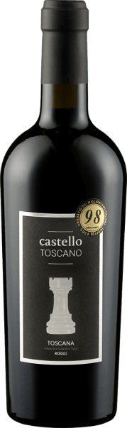 The ruby red Toscana Rosso by Castello Toscano is the joint project of Rolf Freund and winemaker Matteo Bernabei. A wonderfully classic Tuscan with plenty of blackcurrant, fully ripe cherries and well-integrated wood nuances. Add hints of spices such as vanilla and liquorice. The strong, harmonious and fruity taste of the Toscana Rosso from Castello Toscano inspires from beginning to end. Soft tannins and a good built-in acidity make you want more. Vinification of Tuscany Rosso by Castello Toscano This red wine is vinified from Sangiovese and Merlot and matures both in large wooden barrels and partly in barriques. Food pairing for Castello Toscano Rosso Enjoy this Tuscan red wine with pasta dishes or fried beef.