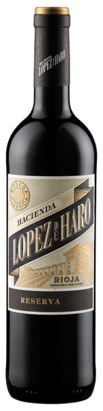 The Hacienda López de Haro Reserva from the DOCa Rioja Alta is brought into the glass by Bodega Classica with bright violet colour and fine ruby red reflections. The cuvée of Tempranillo and Graciano reveals fruity aromas of cherry and blackberry, accompanied by fine cinnamon and vanilla notes. On the palate of the Lopez de Haro Reserva, the wine impresses with plenty and soft tannins. 20 months of ageing in French and American oak give it an elegant spice and a gentle tannin structure. Vinification of the Lopez de Haro Reserva The grapes for this reserve come from ancient vines from the area around San Vicente de la Sonsierra, which offers the best conditions for the cultivation of wine. The climate is positively influenced in the south by the river Ebro, while in the north the vineyards are protected from extreme weather by a mountain range. Food pairing for the Lopez de Haro Reserva Try this wonderful red wine from Rioja with red meat, game or matured hard cheese.