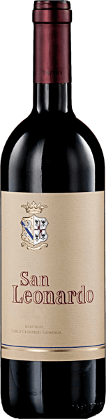This cuvée of 60% Cabernet Sauvignon, 30% Carmenère, 10% Merlotis reminiscent of a large Bordeaux. It is considered the flagship of the Tenuta San Leonardo.The San Leonardo IGT Trentino by Tenuta San Leonardo reveals itself with a remarkable intensity in the nose. Slightly peppery notes as well as hints of wild berries and vanilla are noticeable. Storage in the barrique takes place for 18-24 months and gives it a full, warm and impressively round taste. Food Pairing/Food recommendation for San Leonardo IGT Trentino of Tenuta San Leonardo A treat with poultry, braised game and matured cheese. San Leonardo IGT Trentino Awards from Tenuta San Leonardo Doctor Wine: 97 pts. (Vol. 10), 94 pts. (Vol. 08)Bibenda: 12 x 5 grapes (Vol. 2010 - 1995), 4 grapes (Vol. 08)Gambero Rosso: 17 x 3 glasses (Vol. 2010 to 1988)Decanter: 93 pts. (Vol. 10)I Vini di Veronelli: 94 pts. (Vol. 10 and 08)Parker Punkte - Wine Advocate: 92 pts. (Vol. 08)