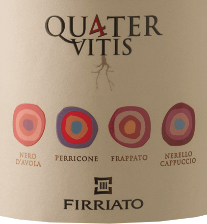 Like the Quater Bianco, this cuvée carries the Sicilia the 4, which stands for the 4 indigenous grape varieties Nero d`Avola, Perricone, Frappato and Nerello Cappuccio, on the label. The Firriato Rosso Sicilia IGT quaternary has a pleasant aroma of spices, chocolate and blueberries. He is a strong personality with Mediterranean warmth and goes particularly well with Osso Bucco.
